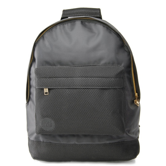 Mi Pac Backpack Front Satin Mesh Charcoal @ Men's Bag Society